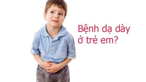 dau da day tre em Viêm dạ dày ở trẻ em và biện pháp khắc phục