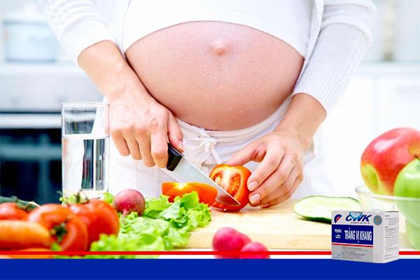 day hoi khi mang thai trang vi khang Phòng chống chướng bụng đầy hơi khi mang thai