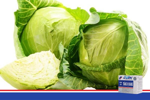rau bap cai trang vi khang Rau bắp cải có công dụng chữa bệnh viêm đại tràng hiệu quả