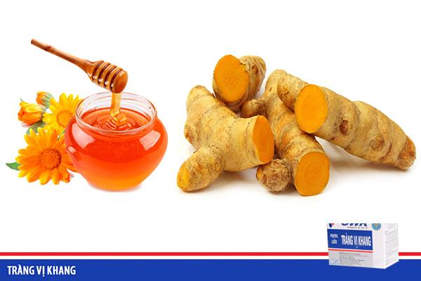 Điều trị viêm loét dạ dày tá tràng nhờ nghệ vàng và mật ong